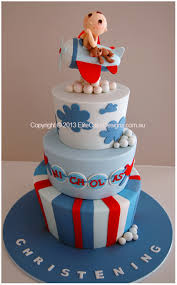 baby pilot aeroplane theme christening cake christening cakes