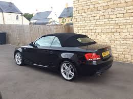 black bmw 1 series 2012 bmw 1 series convertible 2 0 118d m sport black with