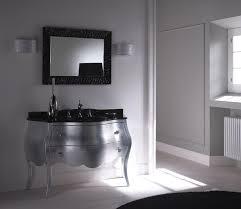 Silver Bathroom Vanity Bahtroom Calm Bowl Sink Color Under Modern Crane On Top Silver