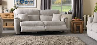 Contemporary Reclining Sofa With Topstitch by La Z Boy Indiana 3 Seater Power Recliner Sofa Home Main Floor