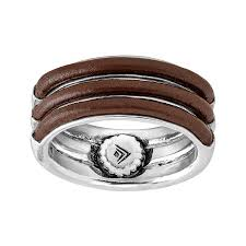 leather sterling bracelet images Silpada 39 in full leather 39 brown leather ring in sterling silver jpg