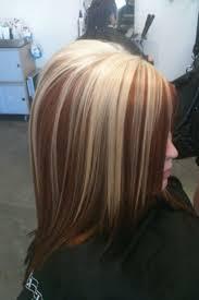 platinum blonde and dark brown highlights b0cd6b9b7c196d8092b3a70d261920a3 red brown highlights brown
