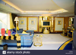 the interior of a suite in the burj al arab seven star hotel in