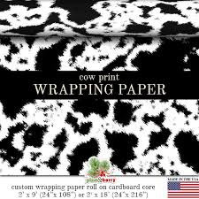 black gift wrapping paper roll cow print wrapping paper custom black or brown and white cow