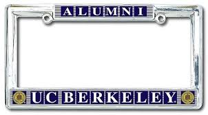 uc berkeley alumni license plate of california berkeley cal alumni classic license plate
