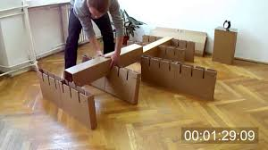 cardboard bed assembly youtube