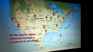 Map Near Me Map Of All The American Doll Stores In The Usa Youtube