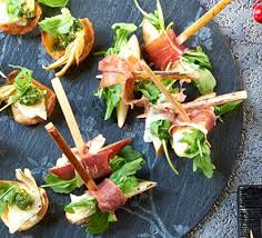 goats cheese canape recipes serrano wrapped pear with goat s cheese recipe food