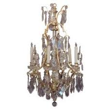 Lead Crystal Chandelier 19th Century French Doré Bronze And Crystal Chandelier For Sale At