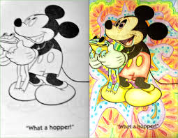 guest trippy mickey coloring book corruptions