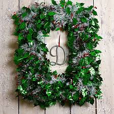 tinsel garland wreath diy city