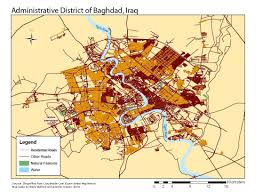 Baghdad World Map by Civilian Deaths In The Iraq Usa War