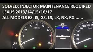lexus is gs ls solution injector maintenance required lexus youtube