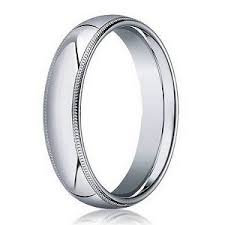 mens white gold wedding band designer men s wedding ring in 14k white gold milgrain 4mm