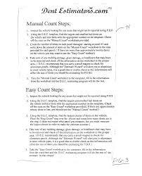 Paintless Dent Repair Estimate Sheet by Brevet Us20040073434 Automobile Repair Estimation Method