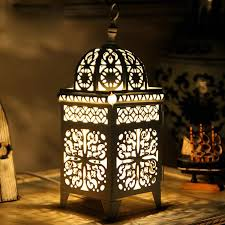 bedroom table lights moroccan style bedsides table lights white metal hollow out metal