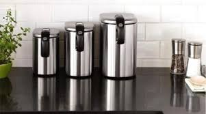 stainless steel canisters kitchen top 35 steel kitchen canisters that look inspiring treknotes