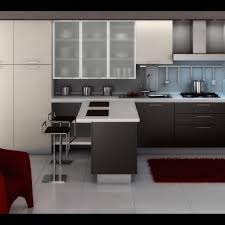 modern kitchen design gallery with red elegant chair furniture and