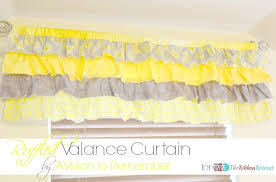 How To Make A Pelmet Valance How To Sew A Ruffled Valance Curtain The Ribbon Retreat Blog
