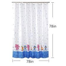 Duck Shower Curtains Cartoon Elephant Duck Shower Curtains Blue Raindrops Kids Shower