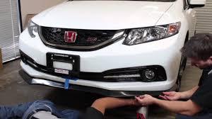 2014 Honda Civic Si Sedan Specs Pro Design Alpha Style Front Lip Install Civic Sedan 2013 2014