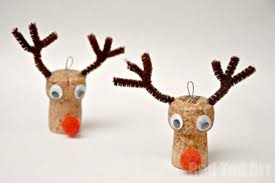 reindeer ornaments cork crafts