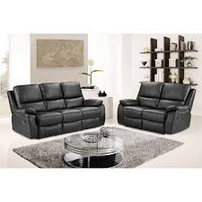 Cameo Black Leather Reclining Sofa Collection - Cameo sofa