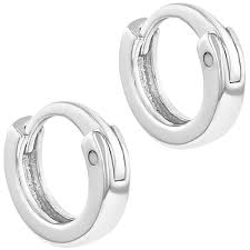 baby hoop earrings 925 sterling silver tiny plain huggie baby hoop earrings infants