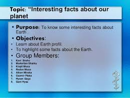 interesting facts about our planet