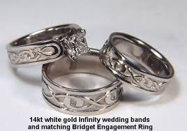infinity wedding band custom infinity knot wedding rings white gold platinum by