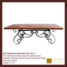 copper top coffee table copper top dining table animas copper top dining table oval