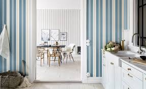 Striped Wallpaper Design Ideas Bright Bazaar By Will Taylor - Wallpaper interior design ideas