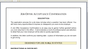 job acceptance