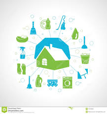 house cleaning concept stock vector image 40459920