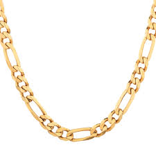 figaro chain gold necklace images 55cm 22 quot figaro chain in 10ct yellow gold jpg