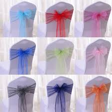 chair covers and sashes wholesale 100pcs lot diy wedding organza chair cover sash bands
