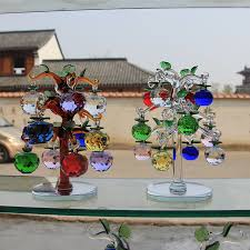 glass apple tree ornaments with 12pcs 40mm apples home decor