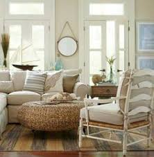 Rustic Living Room Decor Coastal Nautical Dining Room With Rattan Chairs Http Www