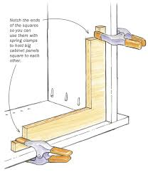 Kitchen Cabinet Clamps Plywood Squares Are A Third Hand For Cabinetmakers