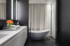 long straight free standing bath shower curtain for window faced