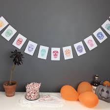 day of the dead halloween decorations day of the dead bunting by daisyley designs notonthehighstreet com
