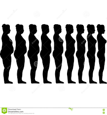 slimming silhouettes of girls stock vector image 79555325