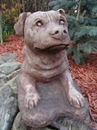 guard dog statue vintage style grey guard dog animal garden balcony