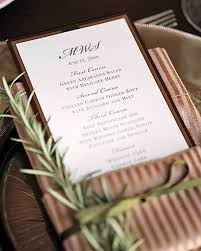Wedding Invitations With Menu Cards Menu Cards From Real Weddings Martha Stewart Weddings