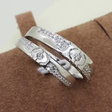unique matching wedding bands unique couples silver wedding bands personalized couples gifts