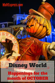 what to expect in disney world during the month of october