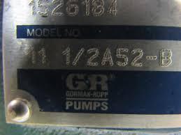 gorman rupp 11 1 2a52 b 1 1 2