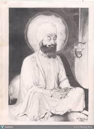 my pencil sketch of dhan sri guru tegh bahadur ji 9th sikh guru