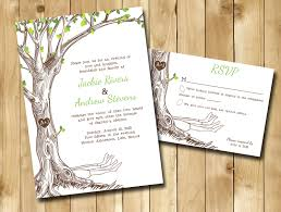 oak tree wedding invitation custom invitations tree wedding
