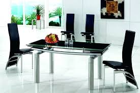 Black Glass Extending Dining Table Extendable Black Dining Table Sarasota Me